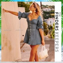 Finders Keepers(ファインダーズ キーパーズ) ワンピース 【安心の国内発送】★Finders Keepers★デニム素材ミニドレス