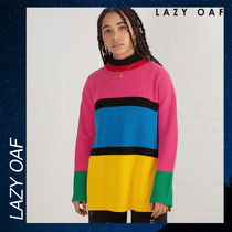 LAZY OAF Colour Block Knitted ニット セーター 長袖 セール