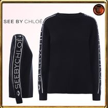 See by Chloe∮ ロゴintarsiaウール&cotton pullover 関税送込!!
