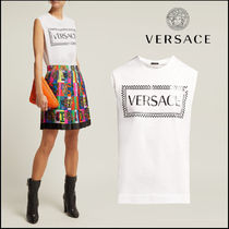 VERSACE(ヴェルサーチ)★Logo-printed cotton tank top