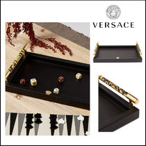 VERSACE(ヴェルサーチ)★Barocco leather tray