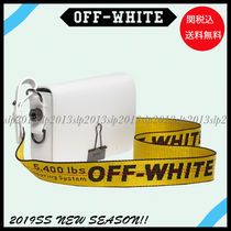19New■Off-White■セレブ愛用☆MINI WHITE BINDER CLIP☆関税込