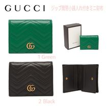 先取り★GG【送込GUCCI】小銭/CARD入付2折★ミニ財布/キルト加工