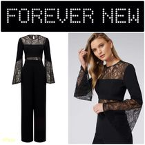 FOREVER NEW(フォーエバーニュー) オールインワン・サロペット 【FOREVER NEW】Ryder Lace Flare Sleeve Jumpsuit