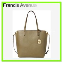 Ralph Lauren Anfield Faux-Leather Medium Abby Tote Sage