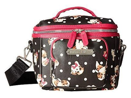 Betsey Johnson★Puppies Print Lunch Tote ランチお弁当バッグ