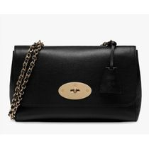 Mulberry Medium Glossy Goat Leather Shoulder Bag Lily
