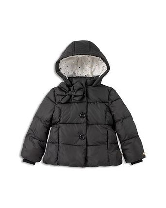kate spade new york キッズアウター kate spade new york Girls' Bow Puffer Coat - 7-14