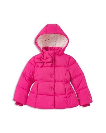 kate spade new york キッズアウター kate spade new york Girls' Bow Puffer Coat - 7-14(2)