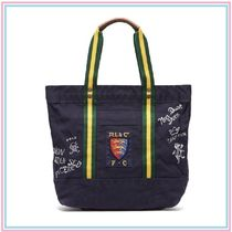 【国内発送】RALPH LAUREN Crest cotton-canvas tote bag