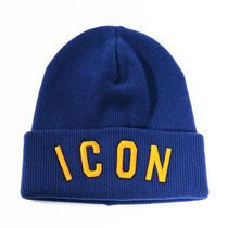 DSQUARED2 18AW ICON Patch ウール ビーニー_BLUE