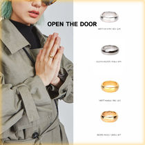OPEN THE DOOR(オープンザドア) 指輪・リング 【OPEN THE DOOR】人気★Round simple ring (2 type)
