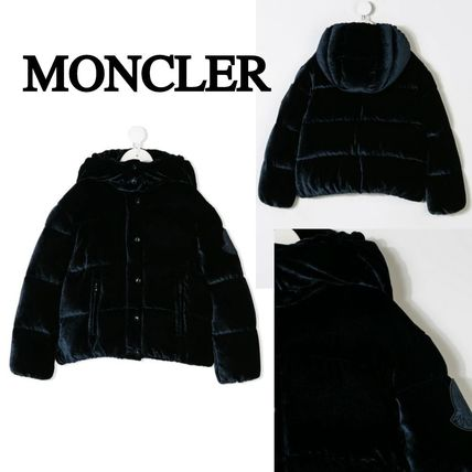 MONCLER キッズアウター 関税・送料込 MONCLER CAILLE ベルベット ダウンジャケット