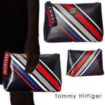 【Tommy Hilfiger】T-Bottom クラッチ Diagonal Stripe
