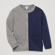 """COS KIDS"" CASHMERE CARDIGAN WITH POCKETS GRAY/NAVY"