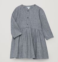"""COS KIDS"" COTTON-TWILL CIRCLE-CUT DRESS NAVY/WHITE"