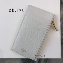 "【CELINE】COMPACT ""ZIPPED"" CARD HOLDER / CALFSKIN (White)"