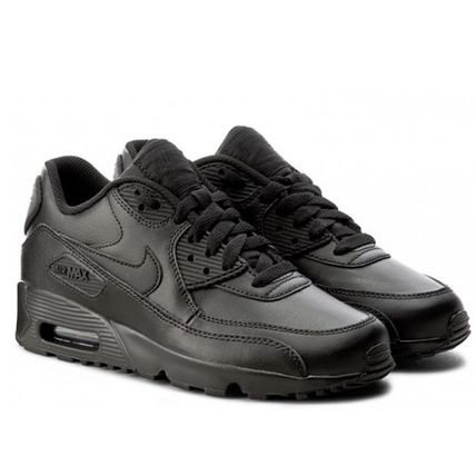 Nike キッズスニーカー ☆⌒'*大人も履ける★Nike Air Max 90 Leather【Black】(6)