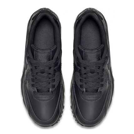 Nike キッズスニーカー ☆⌒'*大人も履ける★Nike Air Max 90 Leather【Black】(7)