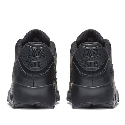 Nike キッズスニーカー ☆⌒'*大人も履ける★Nike Air Max 90 Leather【Black】(8)