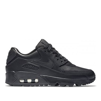 Nike キッズスニーカー ☆⌒'*大人も履ける★Nike Air Max 90 Leather【Black】(9)