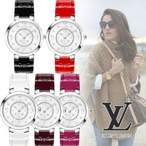 "Louis Vuitton TAMBOUR SLIM 33 My LV Tambour""MONOGRAM VERNIS"""
