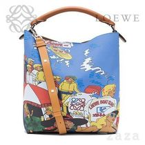LOEWE★ロエベ T Bucket Holiday Bag Multicolor/Tan