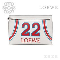 LOEWE★ロエベ T Pouch Loewe 22 Bag Soft White/Red