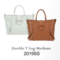 TOD'S(トッズ) トートバッグ 19SS新★Tod's Double T Shopping Bag Medium 関税/送料込