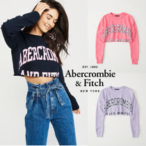 Abercrombie&Fitch*国内発送(追跡有)送関込*クロップスウェット