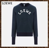 LOEWE(ロエベ)★Embroidered Striped Cotton Sweatshirt★