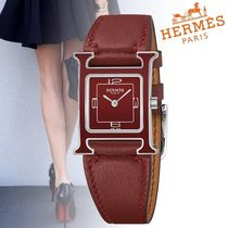 19SS 新作 エルメス 腕時計 Montre Heure H レッド 21×21mm