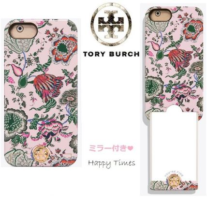 【Tory Burch】SALE! ミラー付き iPhone8ケース Happy Times