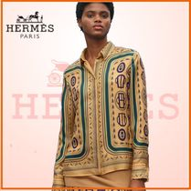 【19SS最新作】HERMES☆Bouclerie moderneマイクロフローシャツ