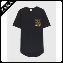 ☆ Men's ZARA☆ T-SHIRT WITH CONTRASTING POCKET