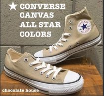 【CONVERSE】コンバース CANVAS ALL STAR COLORS OX HIベージュ