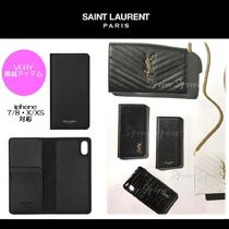 【新作】超COOL★SAINT LAURENT★手帳型★Leather iPhoneケース