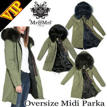 ◆◆VIP◆◆  MR & MRS ITALY   ARMY COTTON CANVAS PARKA
