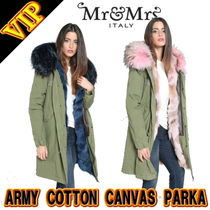 ◆◆VIP◆◆ MR&MRS ITALY ARMY COTTON CANVAS PARKA FUR LINING