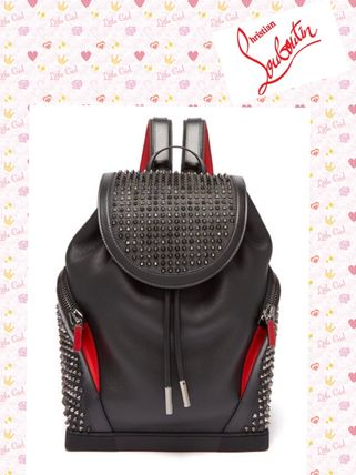 Christian Louboutin/Explorafunk spike-embellished backpack
