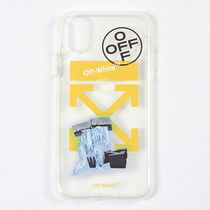 オフホワイト ICE MAN IPHONE X COVER TRANSPARENT iPhoneX専用