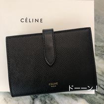 "【CELINE】MEDIUM ""STRAP"" WALLET / GRAINED CALFSKIN (Black)"