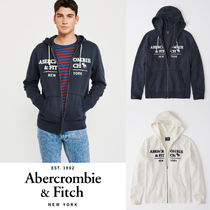 Abercrombie&Fitch*国内発送(追跡有)送関込*ジップロゴフーディ