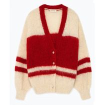"American Vintage(アメリカンヴィンテージ) カーディガン ""American Vintage"" WOMEN'S CARDIGAN MANINA RED"