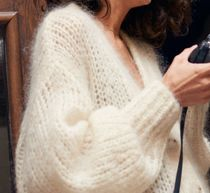 "& Other Stories(アンドアザーストーリーズ) カーディガン ""& Other Stories"" Oversized V-Neck Cardigan White"