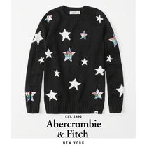 Abercrombie&Fitch*国内発送(追跡有)送関込*starロングセーター