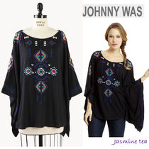 Johnny was(ジョニーワズ ) ポンチョ・ケープ ★セール/即発♪★JWLA Embroidered Poncho★