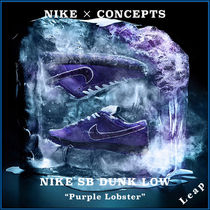 """【Nike×Concepts】人気 NIKE SB Dunk Low """"Purple Lobster"""""""