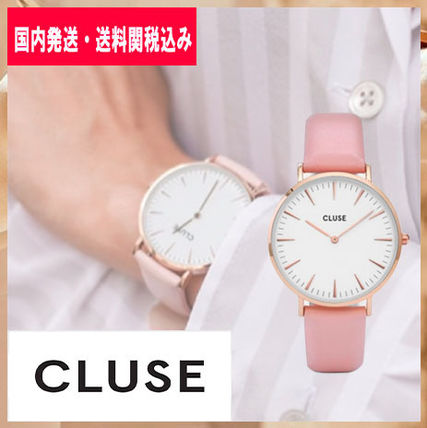 【CLUSE】腕時計 ラ・ボエーム  ピンク 38mm 送関込 CL18014
