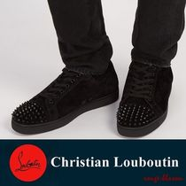 【国内発送】Louis Junior spike-embellished leather trainers